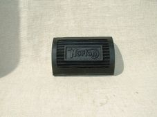 04-0370  Pair of footrest rubbers Norton pre 1956